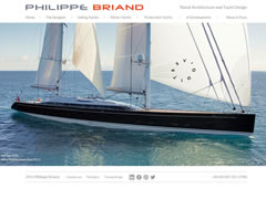 responsive design, media queries & mobile development on the Philipe Briand Yachts website